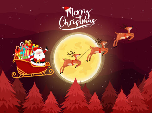 merry christmas and new year wishes.